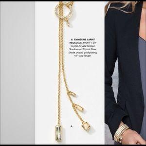 Jewelry - Touchstone Swarovski crystal lariat necklace